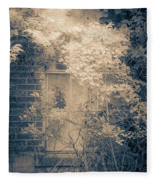 Overgrowth On Abandoned Pumping Station Fleece Blanket