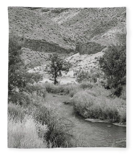 Owyhee River Fleece Blanket