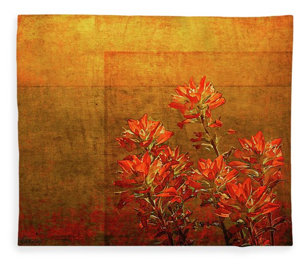 Paintbrush On The Horizon Fleece Blanket