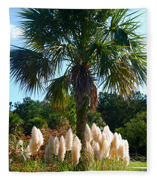 Palmetto Tree  Fleece Blanket