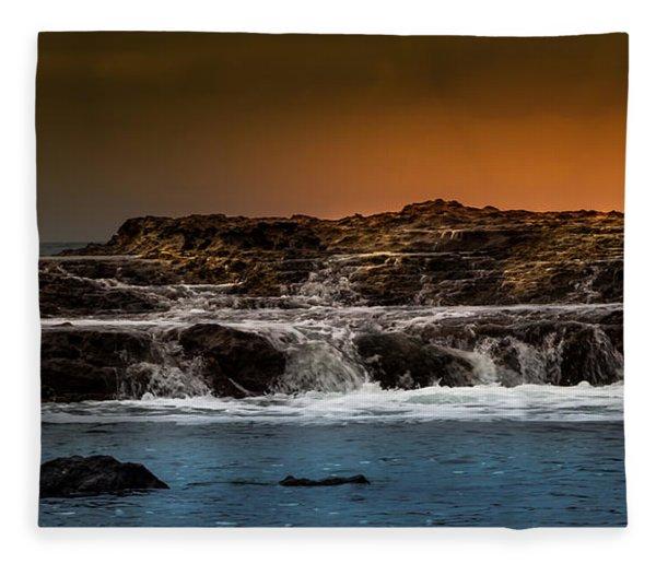 Palos Verdes Coast Fleece Blanket