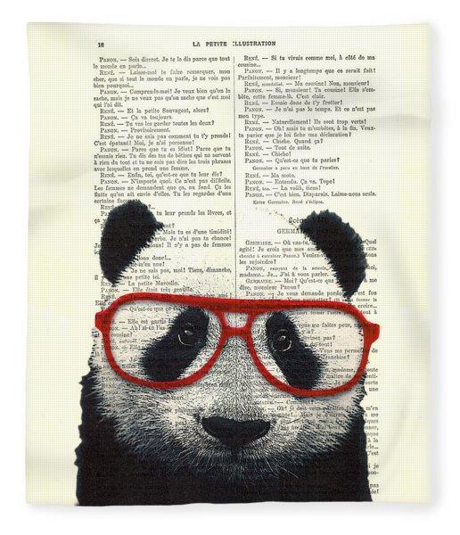 Panda Nursery Art Fleece Blanket