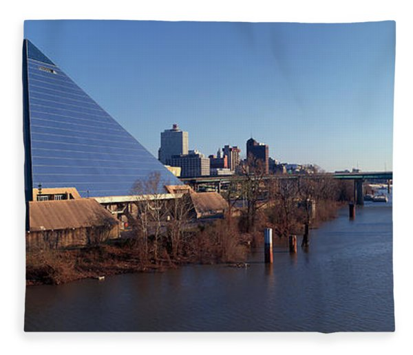 Panoramic View Of The Pyramid Sports Fleece Blanket