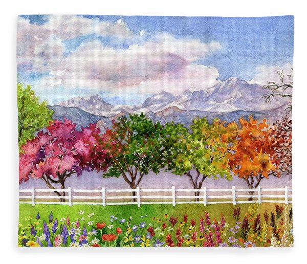 Parade Of The Seasons Fleece Blanket