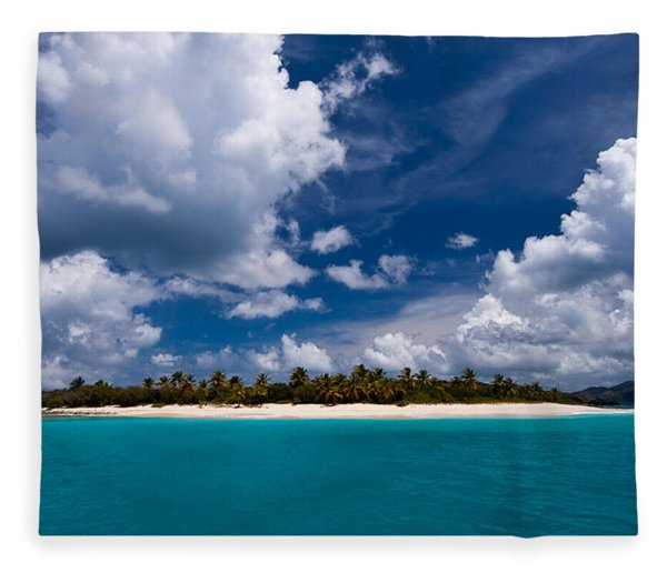 Paradise Is Sandy Cay Fleece Blanket