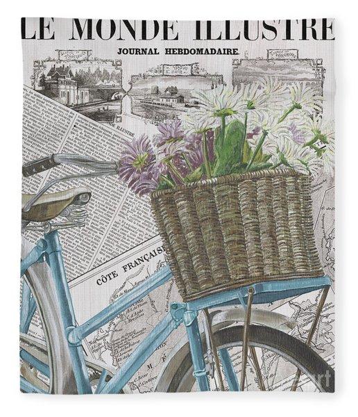 Paris Ride 1 Fleece Blanket