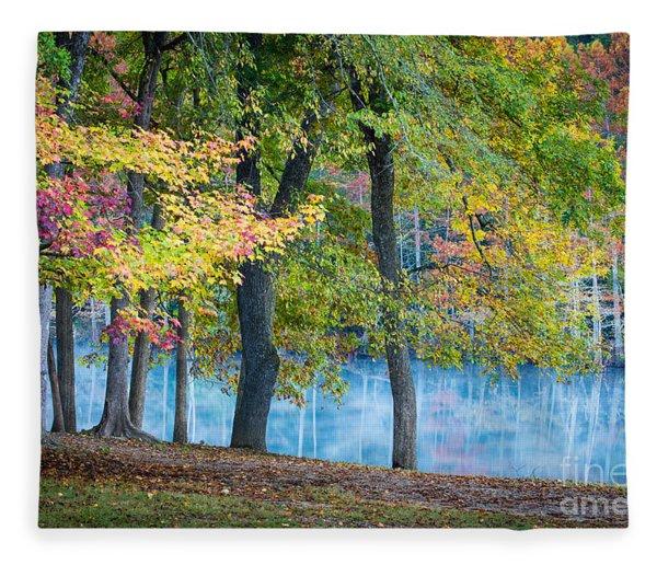 Pastoral River Fleece Blanket