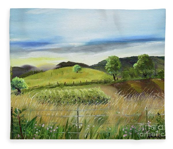 Pasture Love At Chateau Meichtry - Ellijay Ga Fleece Blanket