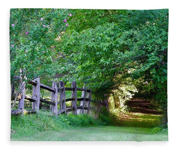 Pathway To A Sunny Summer Morning  Fleece Blanket