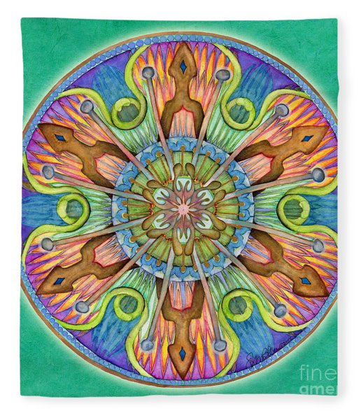 Patience Mandala Fleece Blanket