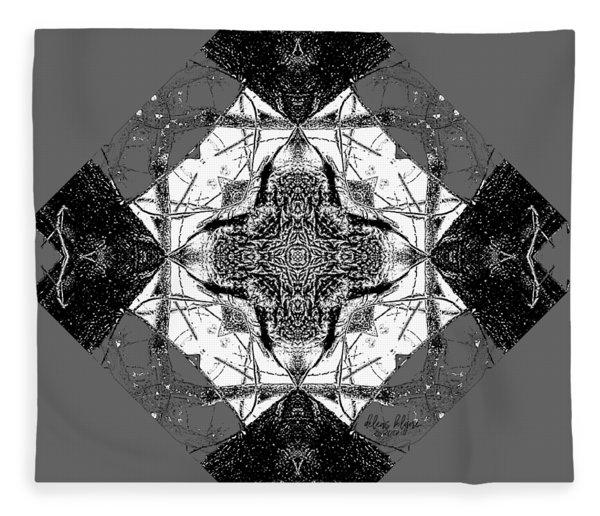 Pattern In Black White Fleece Blanket