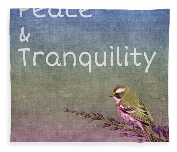 Peace And Tranquility  Fleece Blanket