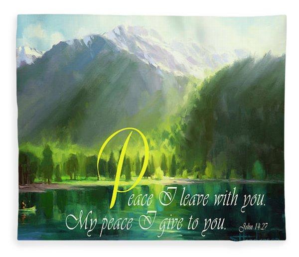 Peace I Give You Fleece Blanket