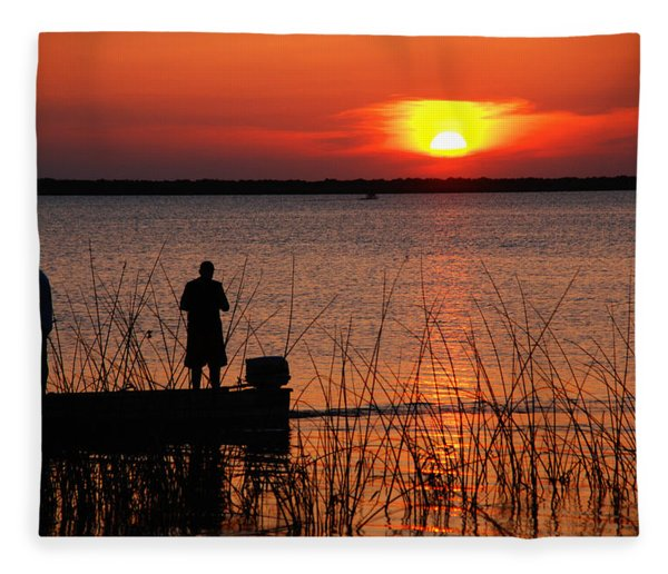 Peace Over The Water Fleece Blanket