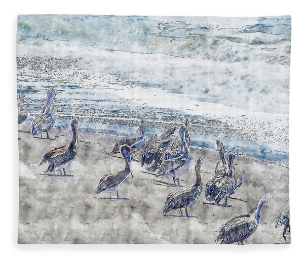 Pelicans Fleece Blanket