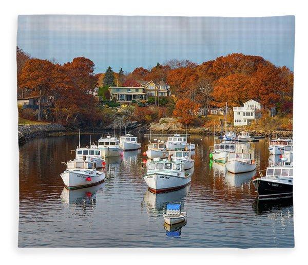 Perkins Cove Fleece Blanket