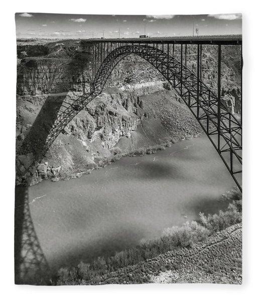 Perrine Bridge Fleece Blanket