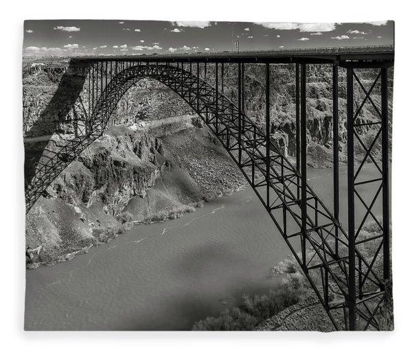 Perrine Bridge, Twin Falls, Idaho Fleece Blanket