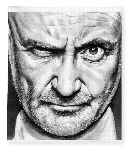 Phil Collins Fleece Blanket