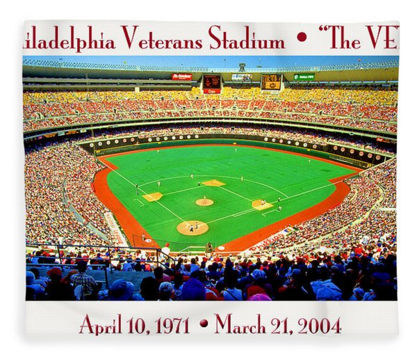 Philadelphia Veterans Stadium The Vet Fleece Blanket