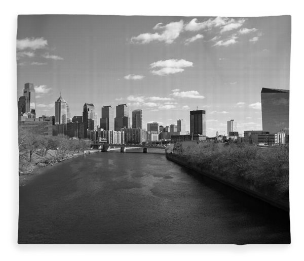 Philly B/w Fleece Blanket