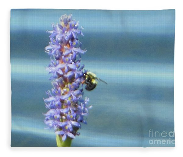 Pickerelweed Bumble Bee Fleece Blanket