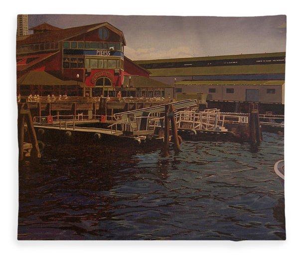 Pier 55 - Red Robin Fleece Blanket