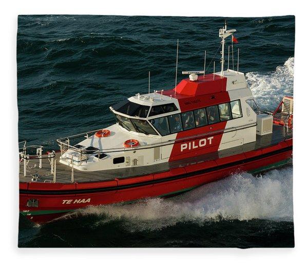 Pilot Boat Wellington Fleece Blanket