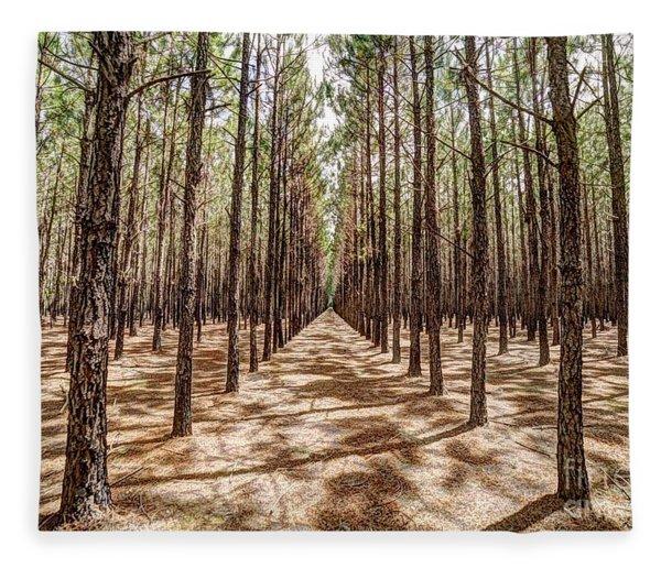 Pine Plantation Wide Color Fleece Blanket