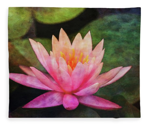 Pink Lotus 4134 Idp_2 Fleece Blanket