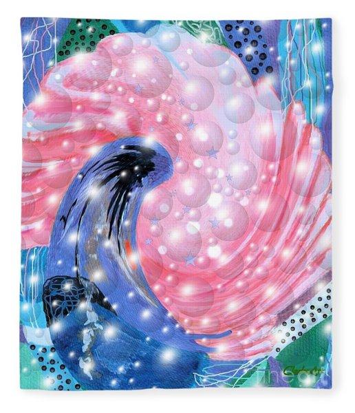 Pink Shell Fantasia Fleece Blanket
