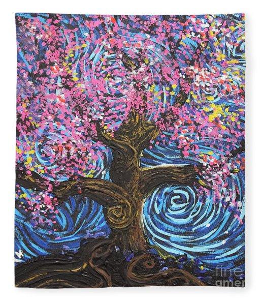 Pinky Tree Fleece Blanket