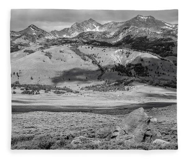 Pioneer Mountains Fleece Blanket