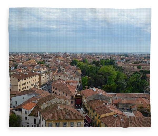 Pisa From Above Fleece Blanket