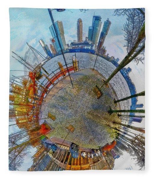 Planet Rotterdam Fleece Blanket
