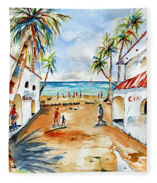 Playa Del Carmen Fleece Blanket