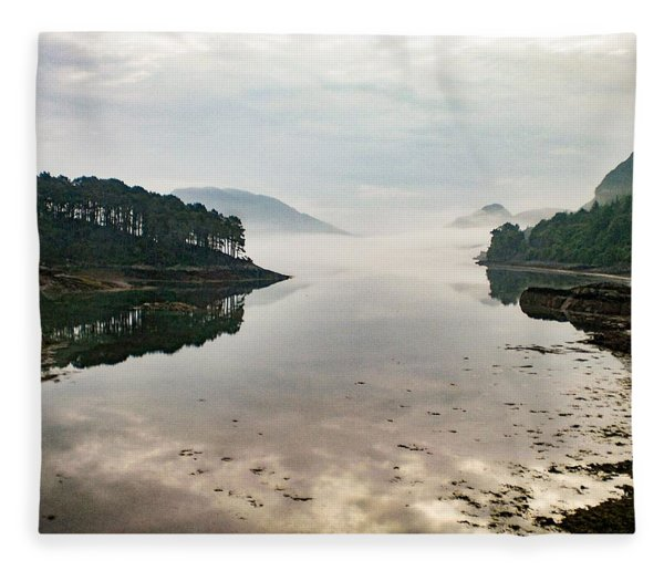 Plockton, Highlands, Scotland,  Fleece Blanket