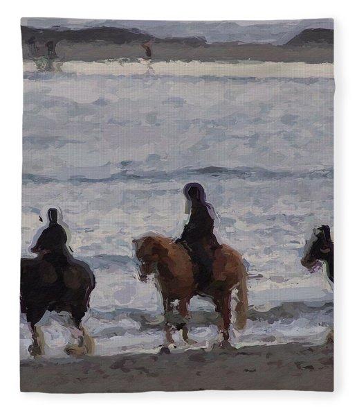 #popham Pony Ride Fleece Blanket