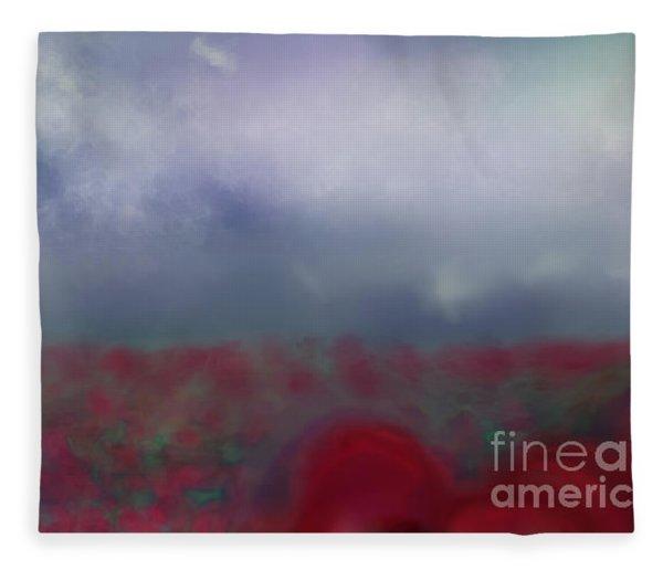 Poppies Forever Fleece Blanket