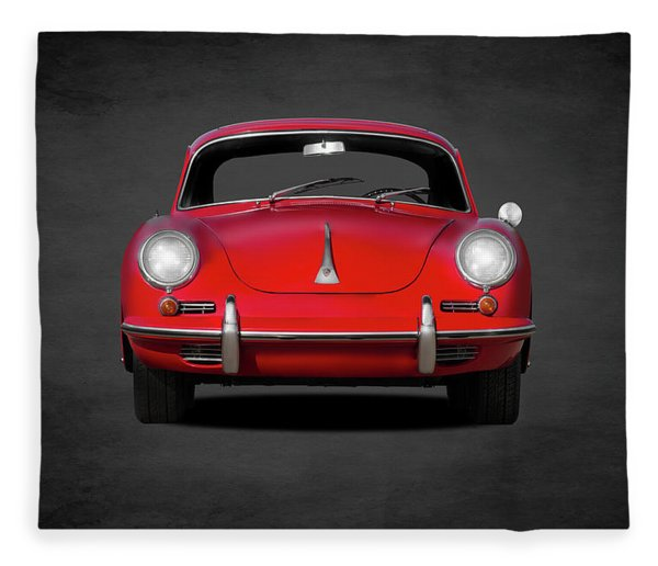 Porsche 356 Fleece Blanket