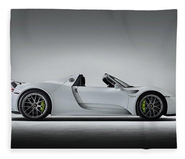 Porsche 918 Spyder Fleece Blanket