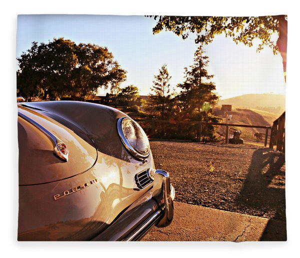 Porsche Sundown Fleece Blanket