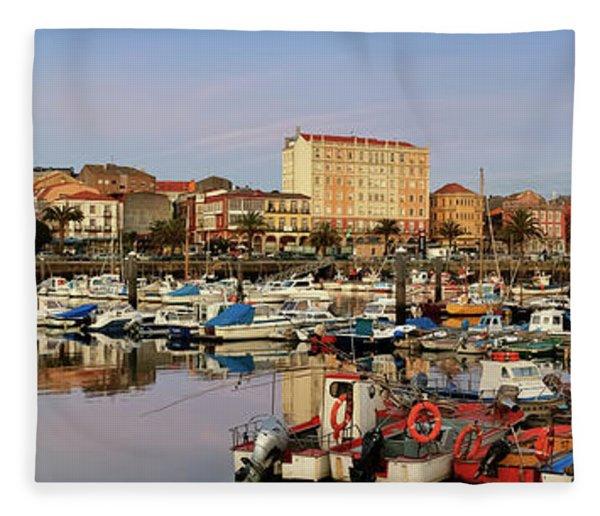 Port Of Ferrol Galicia Spain Fleece Blanket