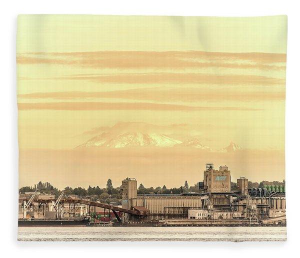 Port Of Vancouver Fleece Blanket