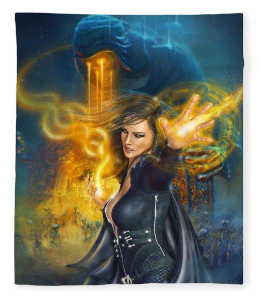 Portal Magician Fleece Blanket