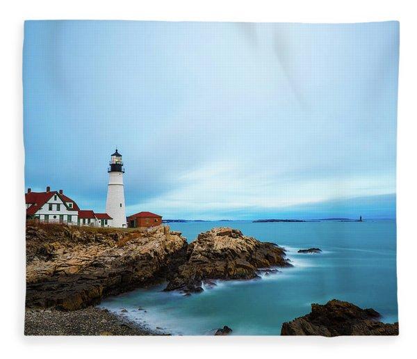 Portland Head Light 1 Fleece Blanket
