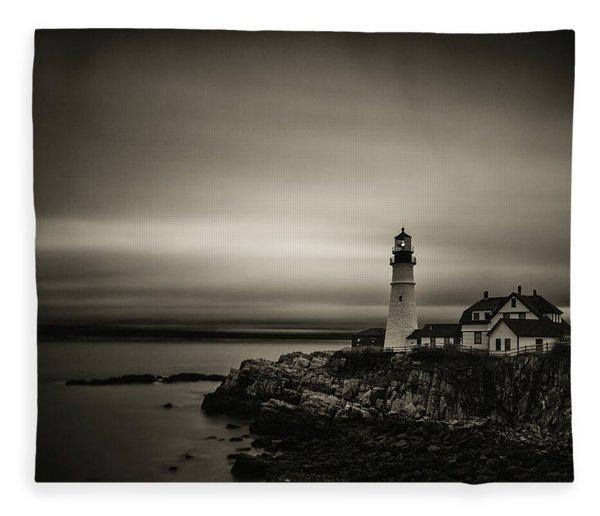 Portland Head Light 3 Fleece Blanket