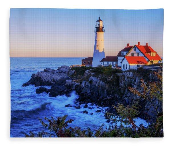 Portland Head Light II Fleece Blanket