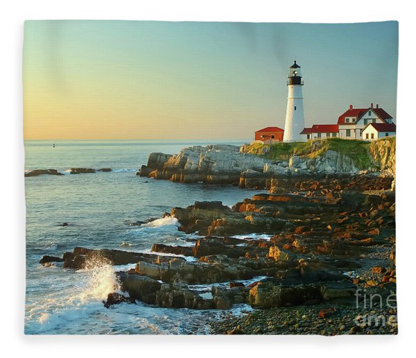 Portland Head Light No. 2  Fleece Blanket