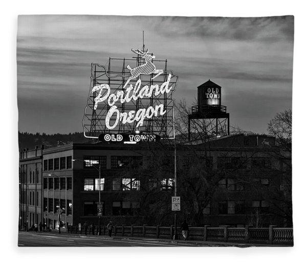 Portland Signs Fleece Blanket